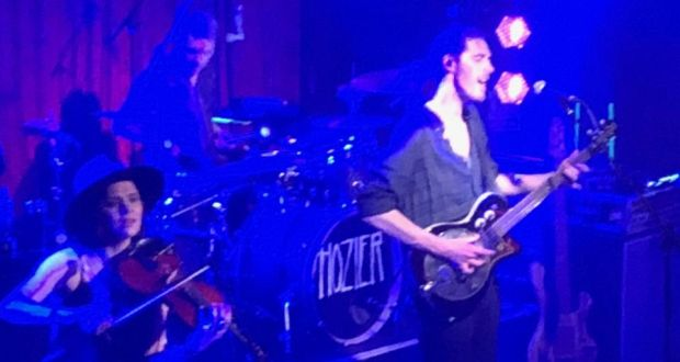 Hozier At The Academy Gasps Ripple Across The Darkened Crowd