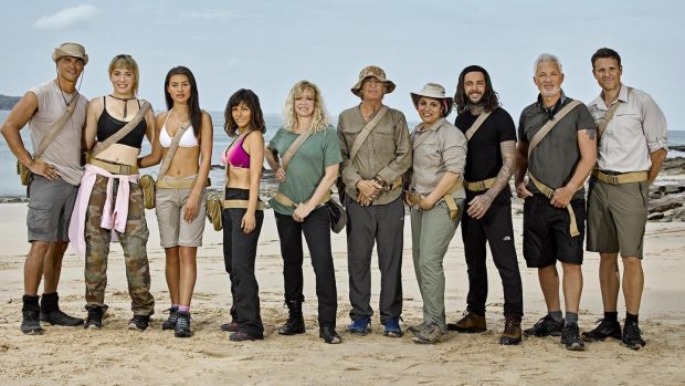 The semi-celebs gather for a new series of Celebrity Island with Bear Grylls