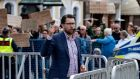 Sweden Democrats party leader Jimmie Akesson: With almost one million voters still undecided, no one is sure whether the SD can reverse a last-minute slide in support for an election-night surprise. Photograph: TT News Agency/Johan Nilsson
