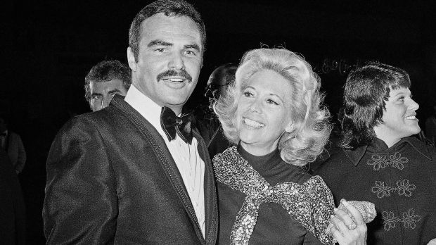 Dinah Shore and Burt Reynolds together in Los Angeles in 1971. File photograph: Harold Filan/AP