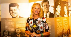 Kerry Kennedy, daughter of Robert F Kennedy  was inducted into the Irish America Hall of Fame at the Dunbrody Centre, New Ross as part of her visit to Wexford for the Kennedy Summer School on Thursday. Photograph: Mary Browne