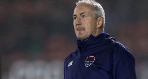 "John Caulfield: ""We're one step away from a semi-final, but if we don't play to our best, or we're sloppy, like we were [last Friday], we won't go through,"" said the Cork City boss. Photograph: Laszlo Geczo/Inpho"