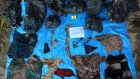 A handout photo made available by Veracruz attorney general's office shows clothing and other personal belongings that were found in a mass grave in Veracruz. Photograph: EPA