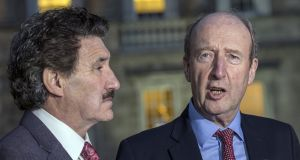 Independent Alliance TDs Shane Ross and John Halligan called for an increase to the special VAT rate for hotels. Photograph: Brenda Fitzsimons/The Irish Times