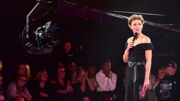 Emma Willis during a Celebrity Big Brother live eviction on September 3rd.