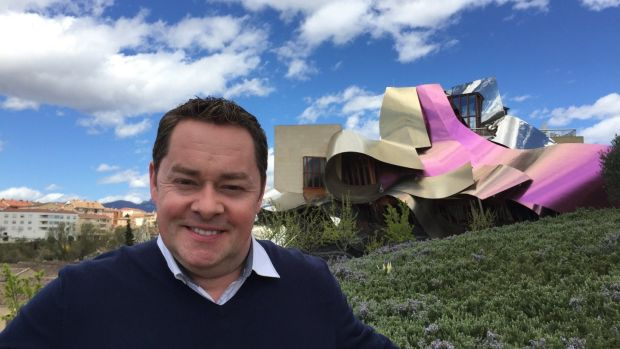 Neven Maguire outside the Hotel Marques de Riscal in Araba, Spain