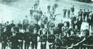 The hurlers and other athletes who toured the United States in 1888, in what became known in the GAA as the 'American Invasion'. Intended as a money-spinner, the tour lost money, and 20  of the original 51 tourists remained in the States.