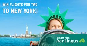 Win return flights for two people to New York with Aer Lingus.