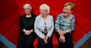 Anne Hughes, Phyl McDonald and Gabrielle Lowe. Phyl (94) is the oldest member of the Dún Laoghaire Active Retirement Association. Photograph: Nick Bradshaw