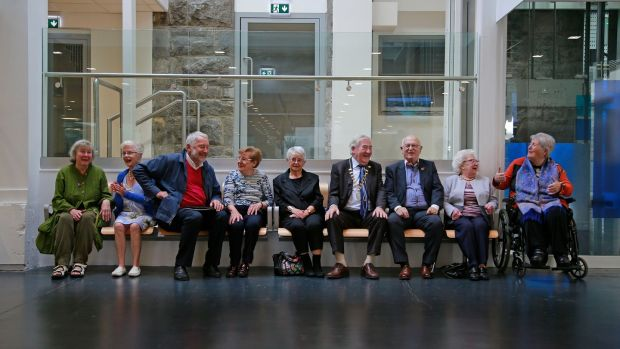 Dún Laoghaire Active Retirement Association members marking its ruby anniversary. Photograph: Nick Bradshaw