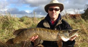 Godfrey Donoghue with large pike.