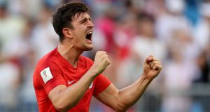 England defender Harry Maguire: he played every minute of Leicester's Premier League campaign last season. Photograph: Reuters