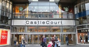 Castle Court, Belfast. NIRC director Aodhán Connolly says the contribution from consumers in the Republic who go North for shopping trips or who buy while on holiday there is a key component of the footfall figures.