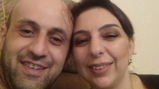 Ilabek Avetian (39) and Anzhela Kotsinian (43) seen before the incident. Photo: Olivia Lynott
