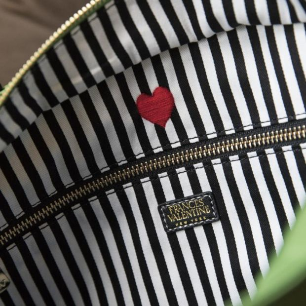 Inside Frances Valentine bags is a signature valentine heart. Photograph: Stefania Curto/New York Times