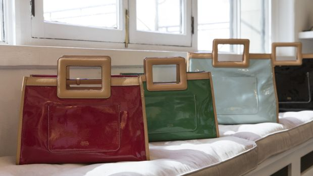 The patent leather bag Kate Spade designed for spring. Photograph: Stefania Curto/New York Times