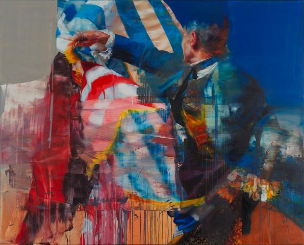 Meditations of a Royal Ringmaster: Conor Harrington's latest paintings are of uniformed historical figures that seem as if, mid-duel, they quantum-leap into the urban future