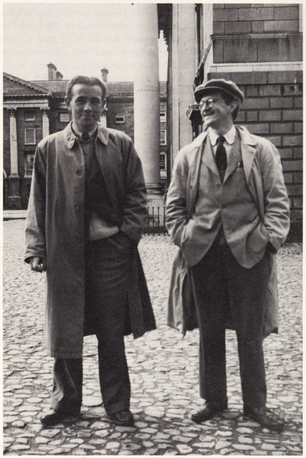 Dubliner Tony McInerney and Arthur Kenneth Donoghue, formerly a classics scholar at Harvardm, inTrinity's Front Square. Photograph: Courtesy JP Donleavy archive