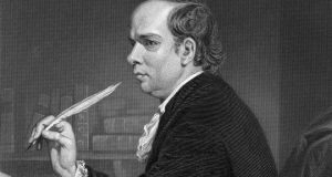 Oliver Goldsmith's letters show him to be an acute observer of people and manners. Photograph:  Engraving by Alonzo Chappel/Hulton Archive/Getty Images