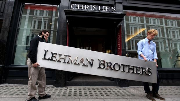 The Lehman Brothers corporate logo goes for auction in Christie's