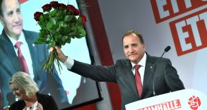 "Social Democrats prime minister Stefan Löfven. All ""decent"" parties in Sweden had a moral responsibility to try new things for a stable government, he said. Photograph: Getty Images"