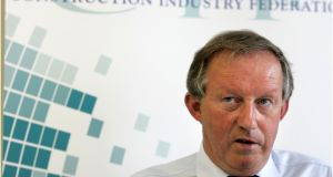"Construction Industry Federation director-general Tom Parlon warned that ""myriad State agencies and regulatory bodies"" did not match national commitments. Photograph: Dara Mac Dónaill"