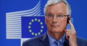 European Union's chief Brexit negotiator Michel Barnier  said a Brexit deal could be done within six or eight weeks, a statement that lifted sterling. Photograph:   Yves Herman/Reuters