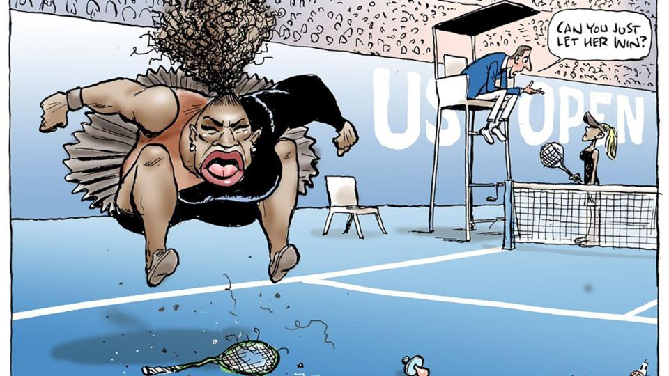 Serena Williams cartoon: Newspaper defends cartoonist