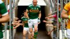 Kerry's Kieran Donaghy takes to the field for his last ever match. Photograph: James Crombie/Inpho