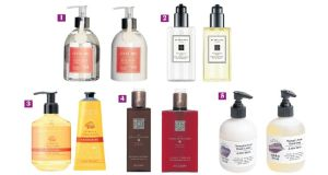 Handwash and lotion duos from Field Day (1), Jo Malone London (2), Crabtree & Evelyn (3), Rituals (4) and & Other Stories (5)