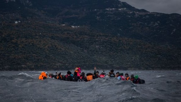 A survivor told MSF that 'European rescuers' had come by aircraft and thrown life rafts, but migrants remained in the water for hours. File photograph: Santi Palacios/AP