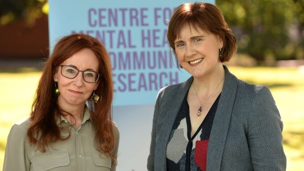 Christine Mulligan, PhD student with Prof. Sinead McGilloway, head of the Centre for Mental Health and Community Research at Maynooth University. Photograph: Dara Mac Dónaill