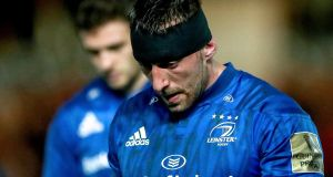 Jack Conan after Leinster's narrow defeat to the Scarlets. Photograph: James Crombie/Inpho
