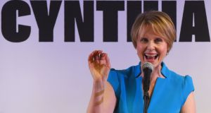 Actor Cynthia Nixon:  in her campaign to be New York's first woman governor, she has slumped  behind incumbent Andrew Cuomo. Photograph: Timothy A Clary/AFP/Getty