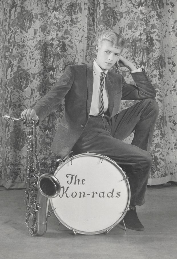 David Bowie in a promotional shoot for The Kon-rads in 1963. Photograph: Roy Ainsworth/Courtesy of the David Bowie Archive 2012.