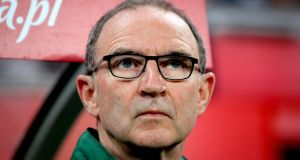"Republic of Ireland manager Martin O'Neill: ""We could and possibly should have won the game. Poland are a very decent team but we tried to play every bit as a well as them and I thought we succeeded."" Photograph: Inpho"