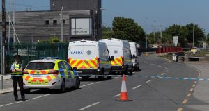 Gardaí  investigating  at Bray Boxing Club after  a shooting in which  Bobby Messett died in June of this year.  File photograph: Colin Keegan/Collins Dublin