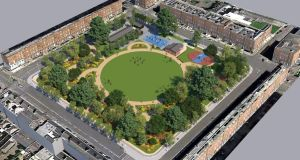 A computer-generated image of the proposed Mountjoy Square Park redevelopment. Image: Dublin City Council report