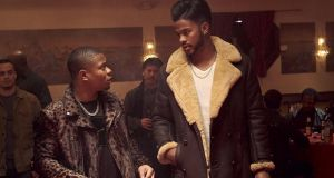 Jason Mitchell and Trevor Jackson in Superfly (2018)