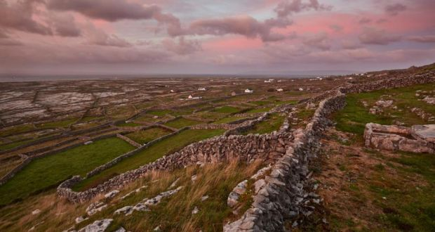 Aran Islands: on the road to Synge's Chair, on Inishmaan. Photograph: Andy Haslam/New York Times