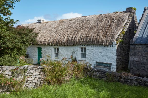 Aran Islands: JM Synge's cottage, on Inishmaan. Photograph: Andy Haslam/New York Times