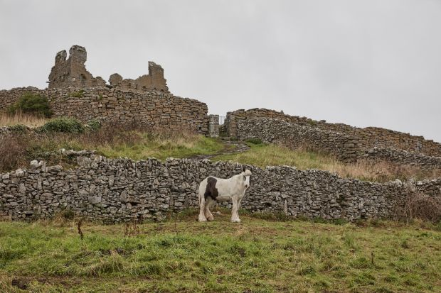 Aran Islands: the ruins of O'Brien's Castle, on Inisheer. Photograph: Andy Haslam/New York Times