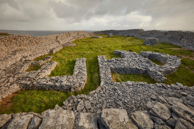 Aran Islands: the ring fort of Dún Chonchúir, on Inishmaan. Photograph: Andy Haslam/New York Times