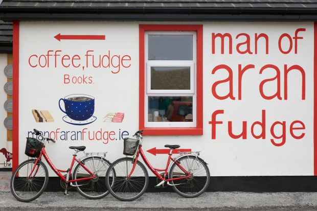 Aran Islands: the Man of Aran Fudge shop, at Kilmurvey Craft Village, on Inishmore. Photograph: Andy Haslam/New York Times