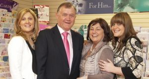 Michelle Daly, Gerry Naughton, Pauline Naughton and Aishling O'Shea of P&G Cards.
