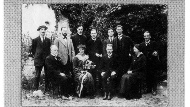 WT Cosgrave's election campaign launched on July 19th, 1917 with the investiture of Countess Markievicz as Freewoman of the City of Kilkenny. She is in the garden of the Royal Victoria Hotel (now AIB, 3 High Street), where a banquet was held in her honour. Photograph: Military Archives of Ireland