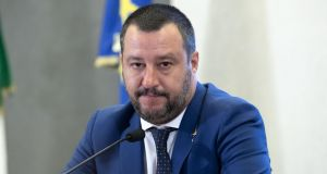Matteo Salvini: observers suggest he could easily be prevailed on to stand for the presidency of the European Commission. Photograph: Massimo Percossi/EPA