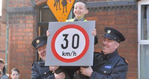 In March last year the 30km/h speed limit zone was expanded to certain residential areas and in the vicinity of schools in Dublin city centre.  Photograph: Alan Betson / The Irish Times