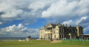 A view of the clubhouse of the Royal and Ancient Golf Club of St Andrews. Photo: David Cannon/Getty Images