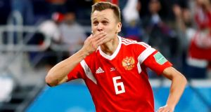 Russia's Denis Cheryshev scored four goals at the World Cup during the summer. Photo: Fabrizio Bensch/Reuters